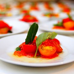 Tomatoes and Salmon Roe from Il Buco Alimentari