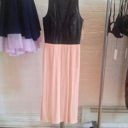 Leather bodice dress, $500