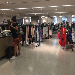 The sales racks on the fifth floor