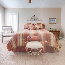 Large bedroom in manufactured home in Murray, Utah.