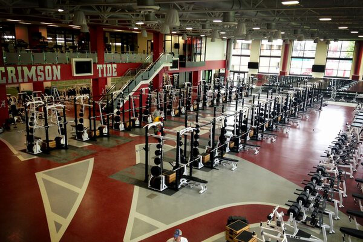 Alabama s new weight room is indeed insane sbnation