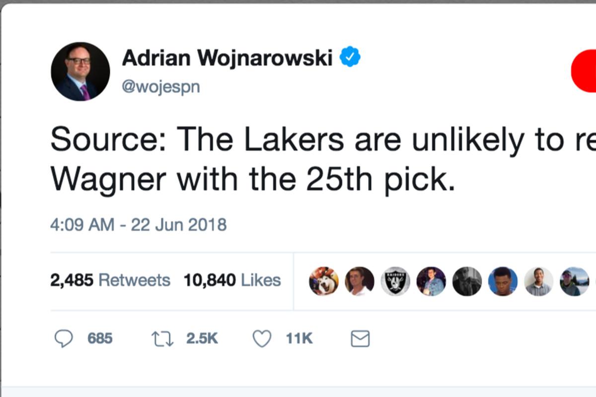 Adrian Wojnarowski's night of NBA Draft loophole tweets was