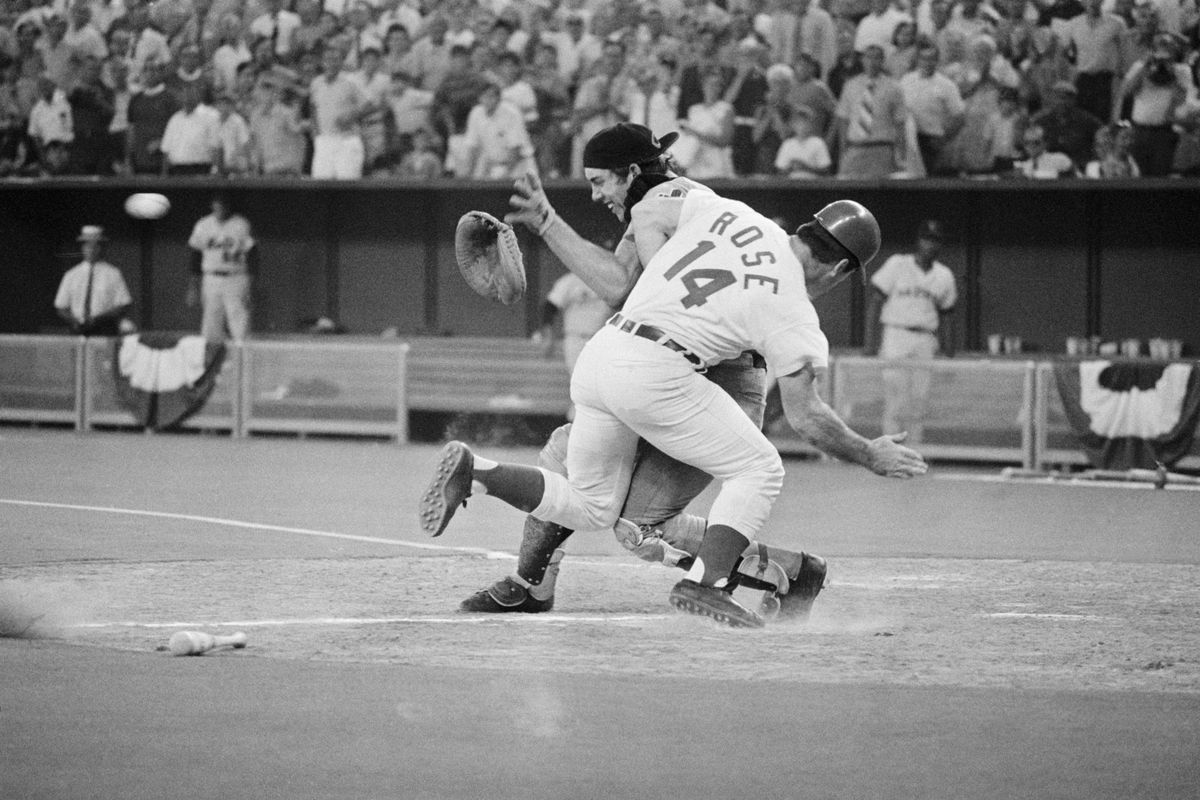 Pete Rose Colliding with Catcher Ray Fosse