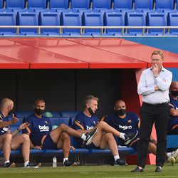 Koeman watches on from the sidelines