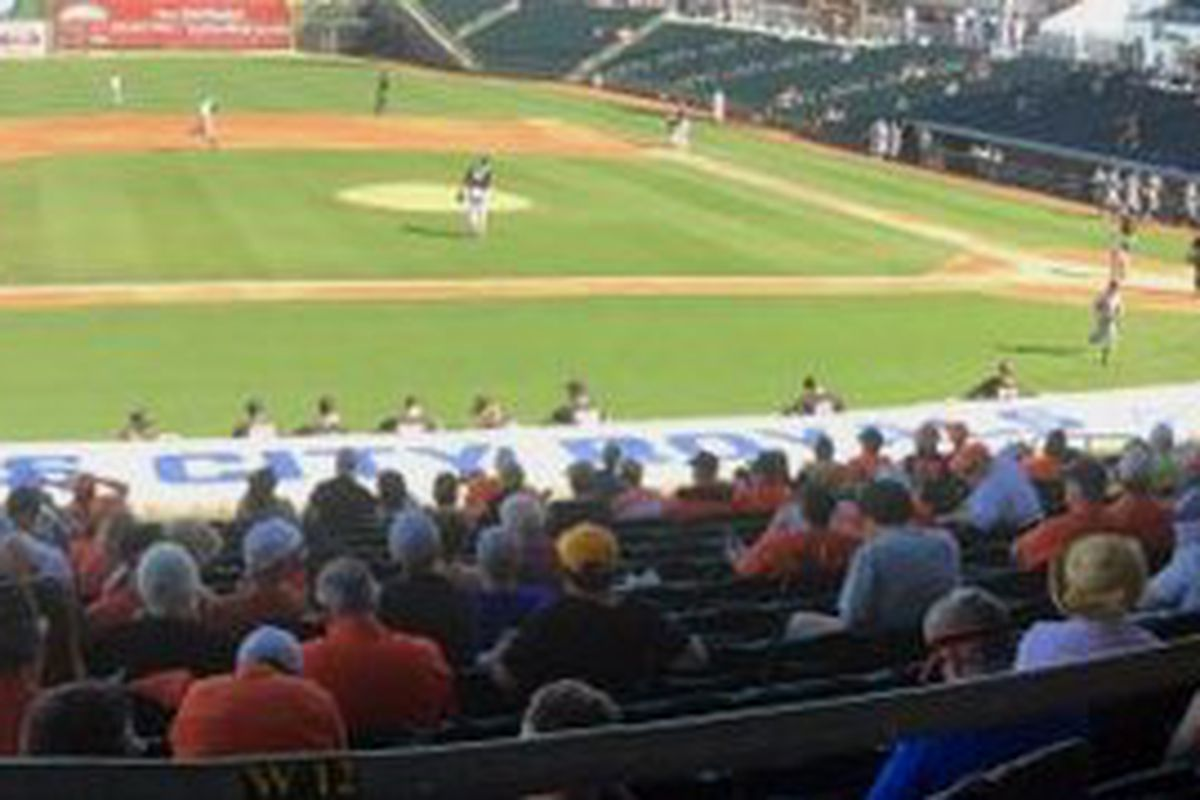A strong turnout of Oregon State fans got their money's worth, at least in terms of quantity, if not quality, of baseball today.