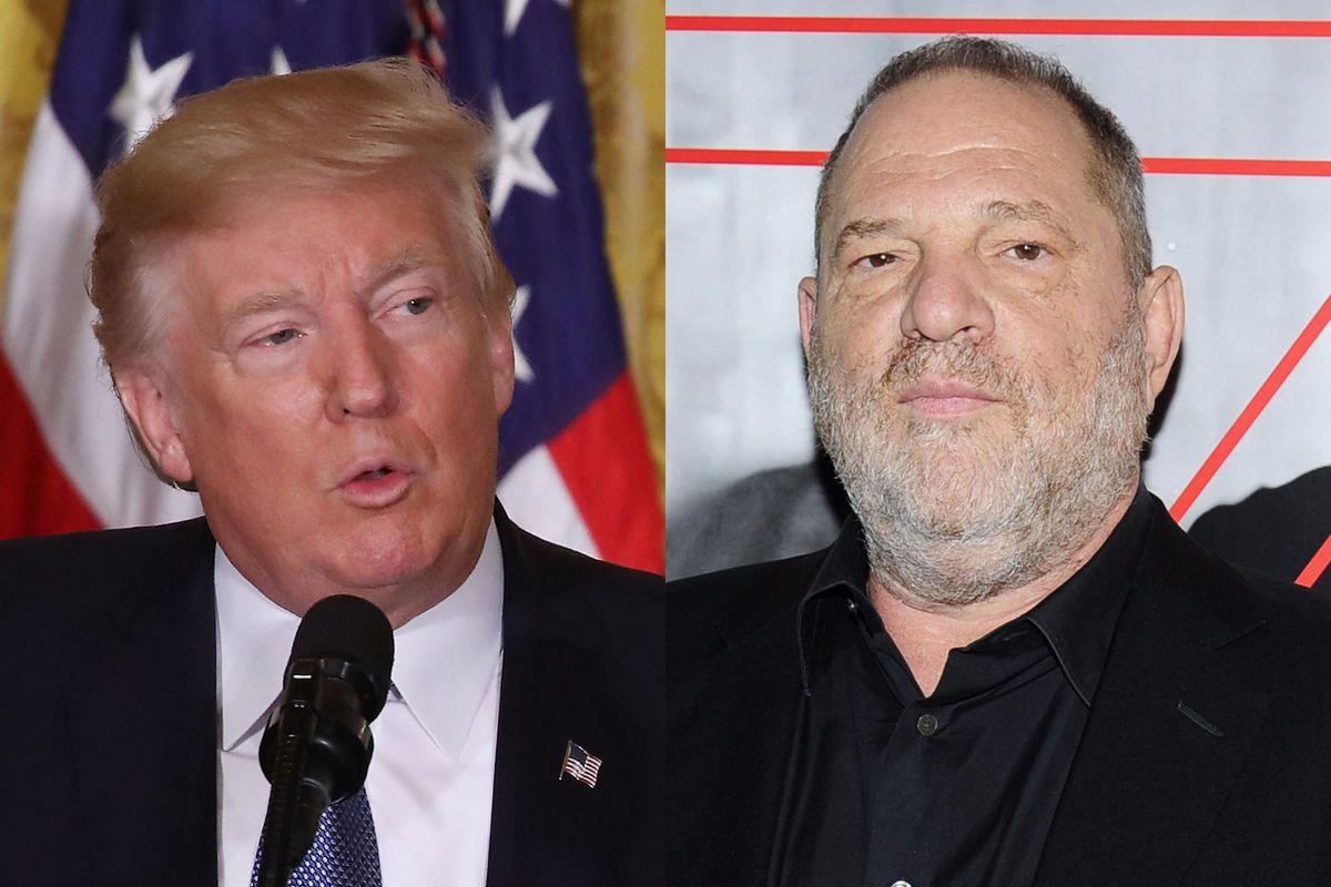 Famous pussy-grabbers Trump and Weinstein