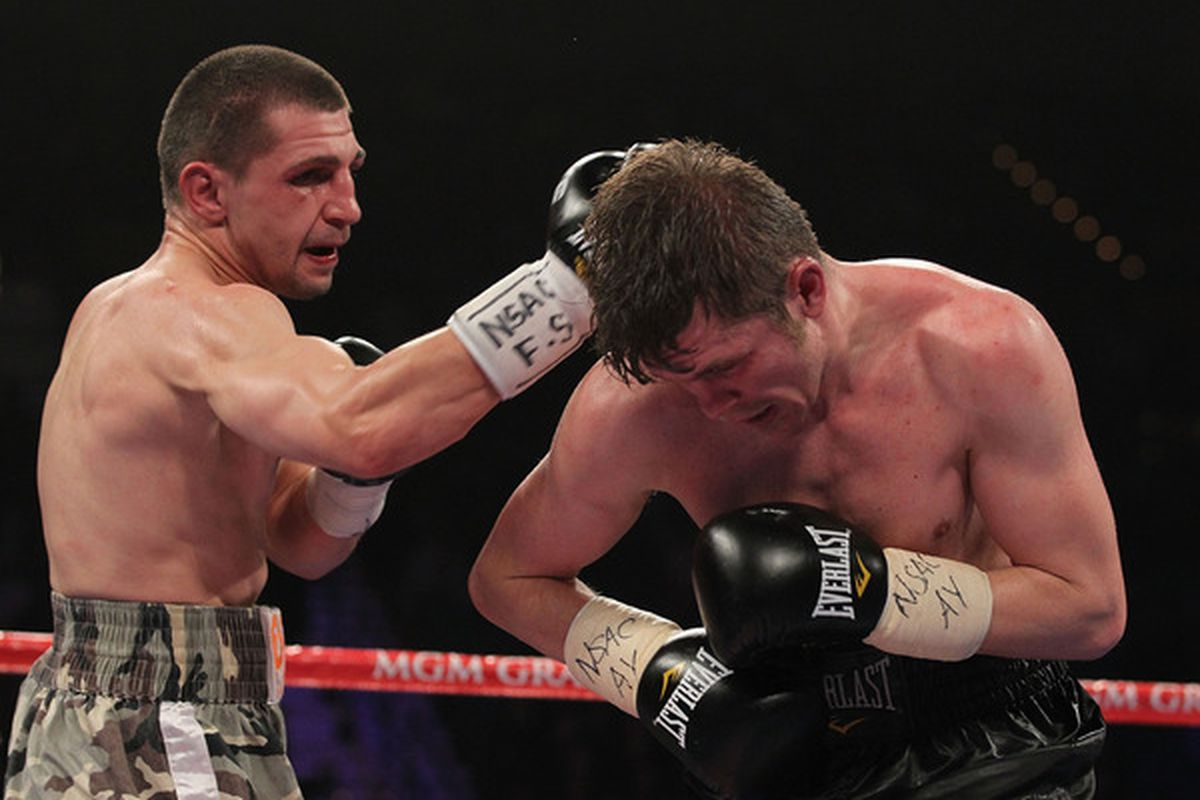 Pawel Wolak says he's still focused on Cornelius Bundrage, and hasn't heard about a reported fight with Vanes Martirosyan. (Photo by Al Bello/Getty Images)