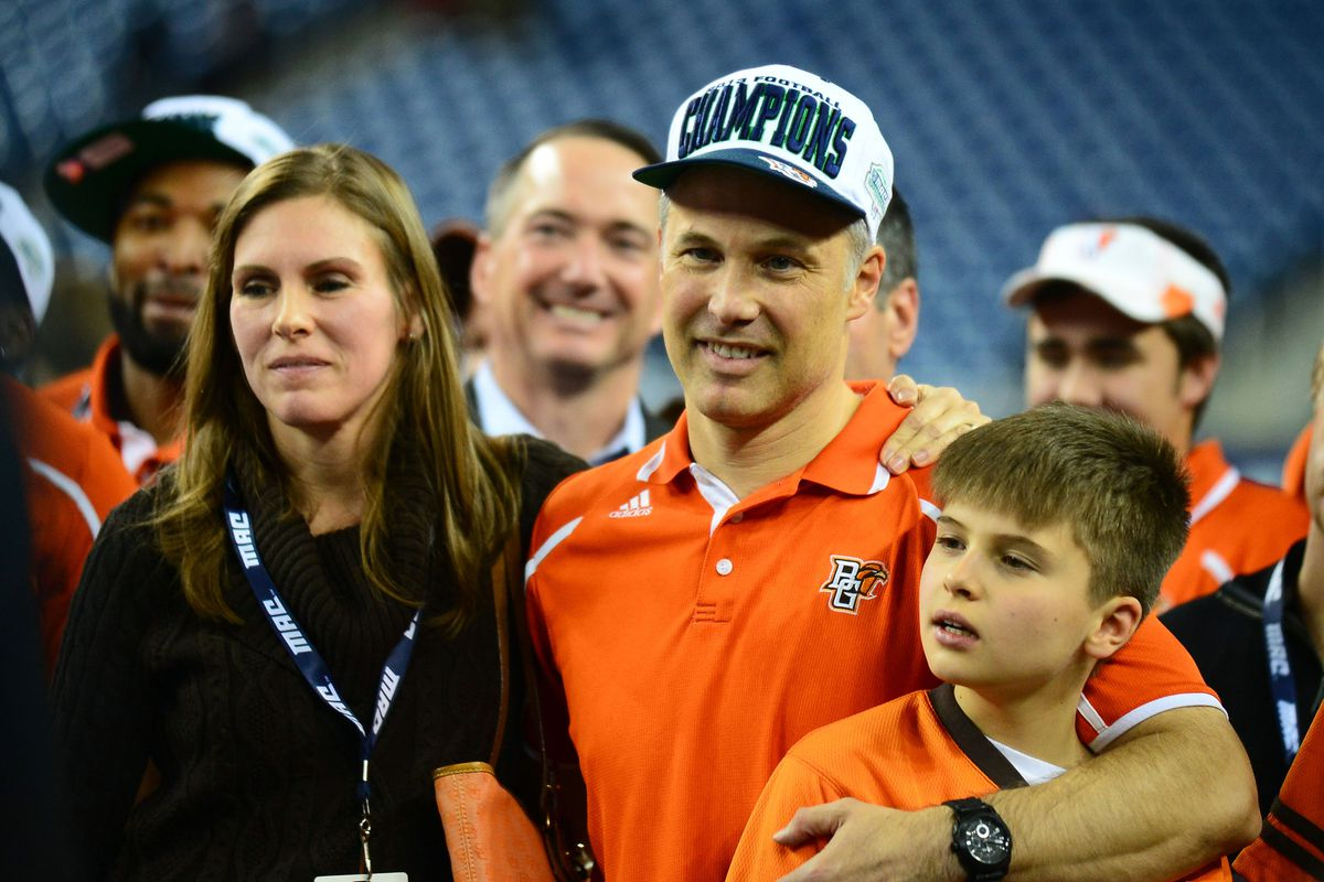 Dave Clawson and family celebrate the MAC titile last Friday night