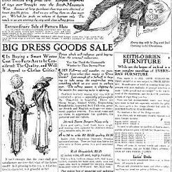 The O'Brien store made a big push for Christmas sales in this 1910 ad.
