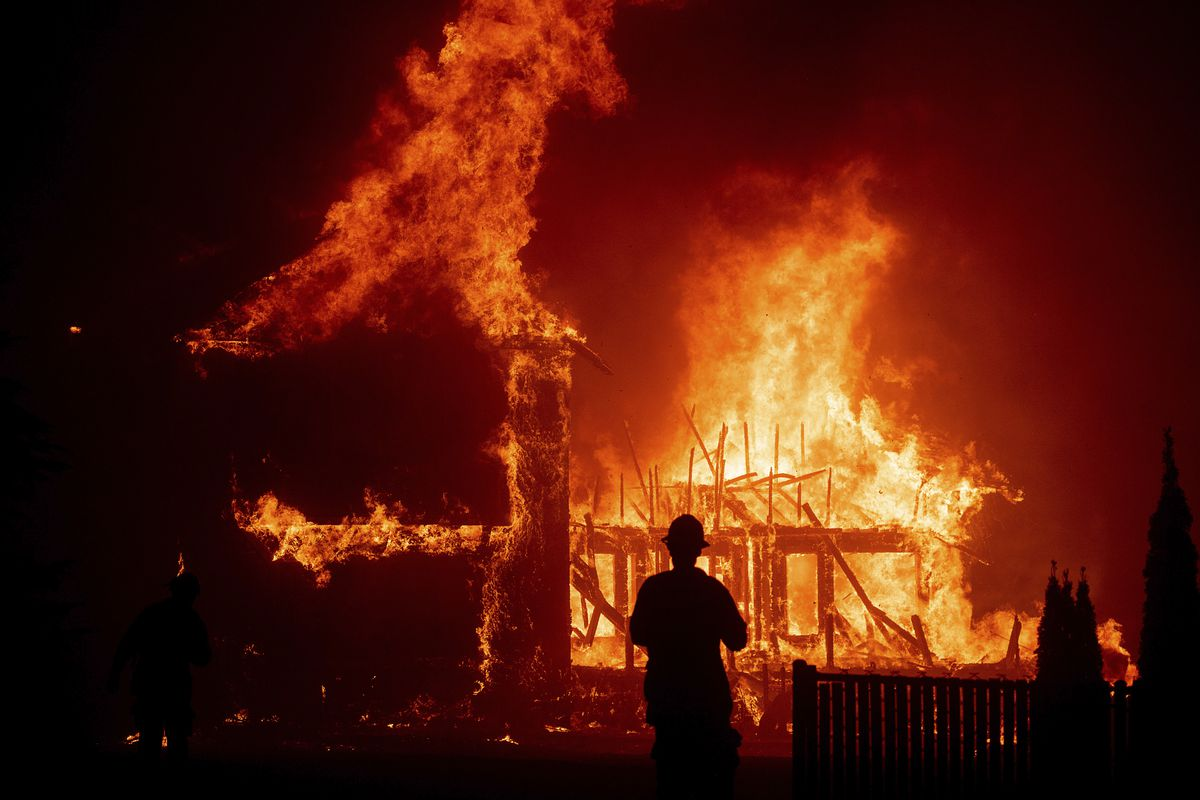 fire in butte county rages