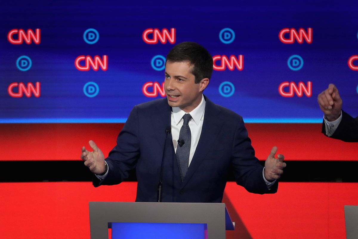 Image result for images of cnn and pete buttigieg