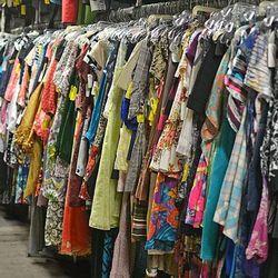 "Dresses at Garment District via <a href=""https://www.facebook.com/TheGarmetDistrict/photos/pb.106510229388490.-2207520000.1392984171./669499596422881/?type=3&theater"">Facebook</a>"