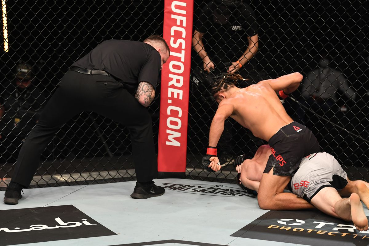 UFC Fight Island 4 video: Kyler Phillips finishes Cameron Else with brutal ground and pound attack - MMA Fighting
