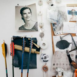 As my workspace constantly changes with the mood and direction of the brand, one anchor that remains is an image of my <b>Grandmother, Charlotte</b>. She was an important person as I was growing up in the Midwest and always inspired my imagination and dri
