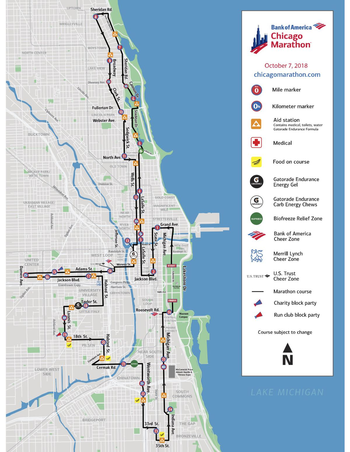 Chicago Marathon Street Closures Route Schedule And More