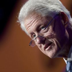 Former U.S. President Bill Clinton speaks as he opens the Clinton Global Initiative, Sunday, Sept. 23, 2012, in New York. Participants, consisting of more than 50 current or former heads of state, will attend three days of sessions aimed at solving pressing world problems.