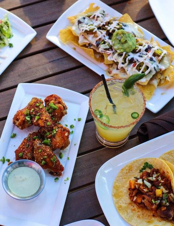 Achiote wings, nachos, al pastor tacos, and a spicy margarita at Zocalo in Midtown