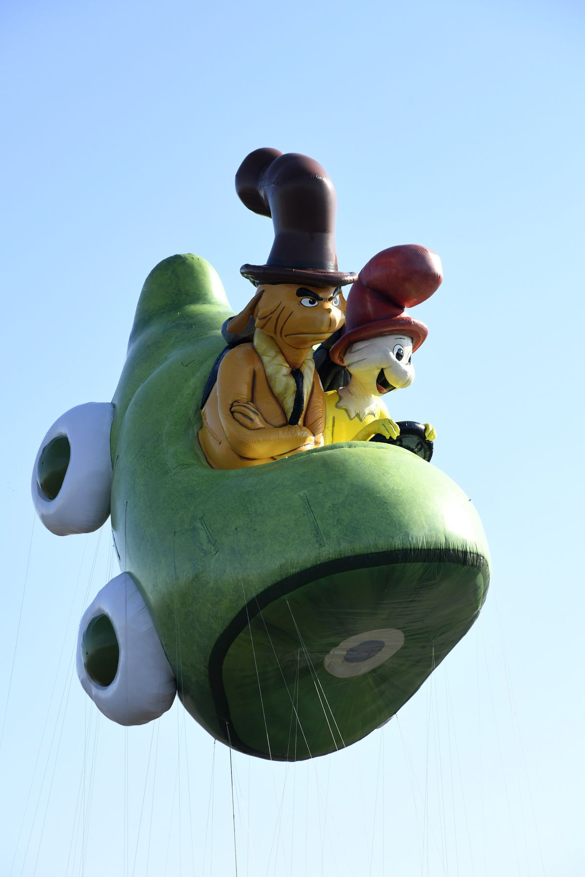 Green Eggs and Ham by Netflix is seen as Macy's unveils new giant character balloons for the 93rd annual Macy's Thanksgiving Day Parade