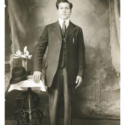 One shows Antonio (Tony) Furano in 1919, about when he joined the Hotel Utah staff, of which he was a member for over 40 years. (Provided by Joanne Milner)