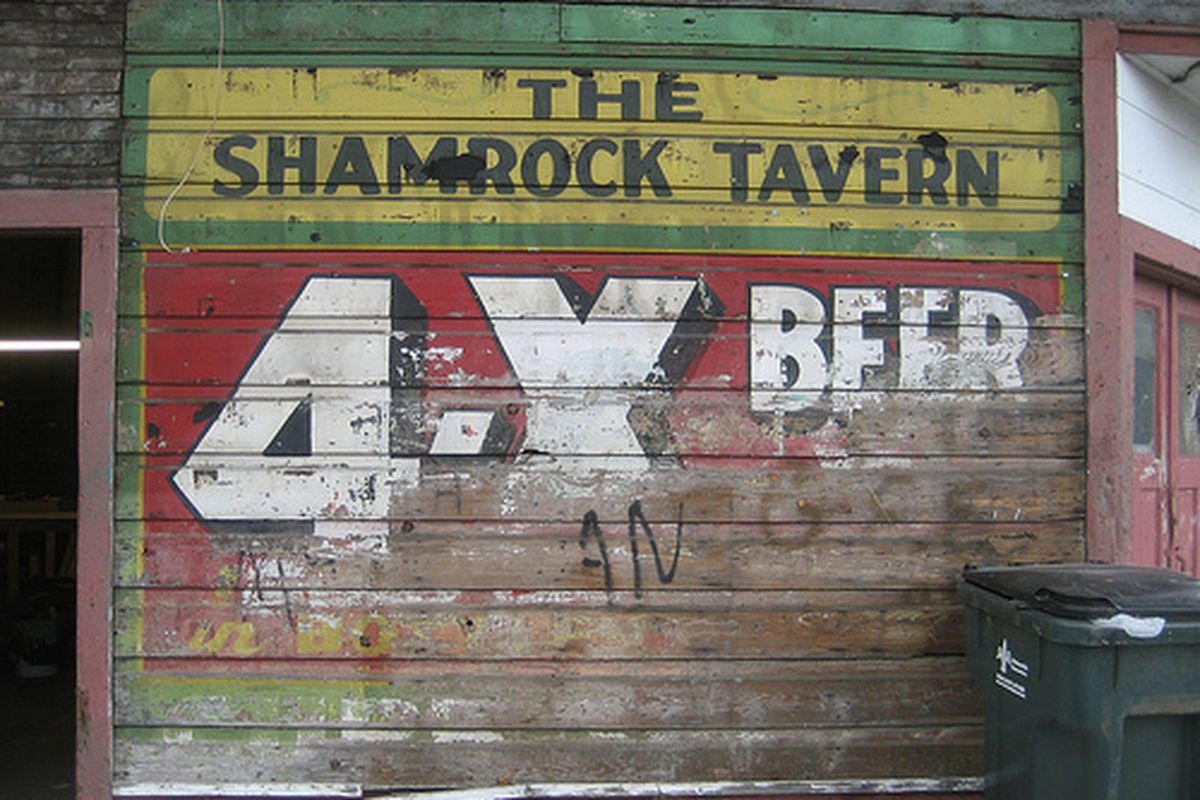 The old Shamrock Tavern in the Lower Garden District.