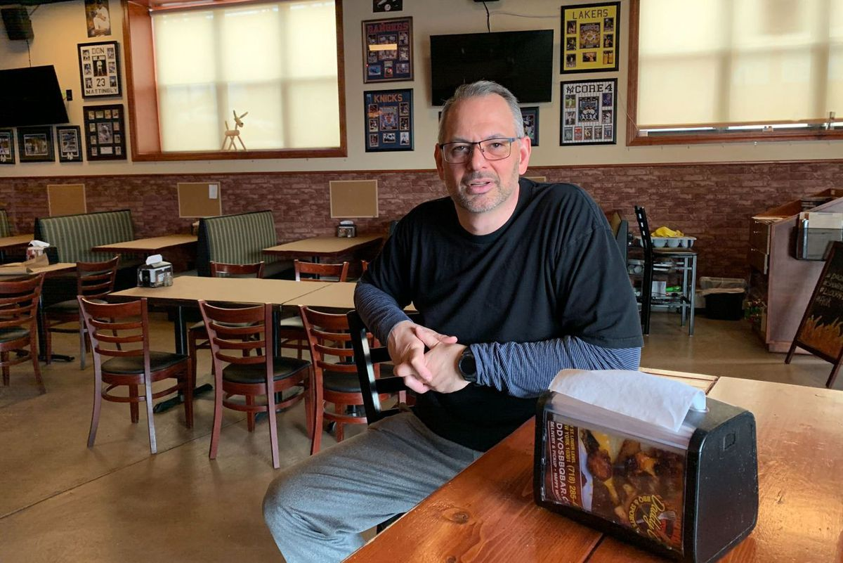 Greg Fosdal said he forced to lay off some workers at Daddy'Os BBQ & Sports Bar in Staten Island because of the coronavirus.