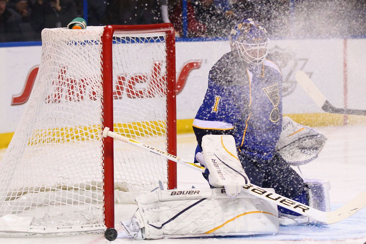 Remember when Luongo scored a goal [on himself!] using that handy little shelf in his knee pads, and then Elliott didn't? Yeah, that was a good time.