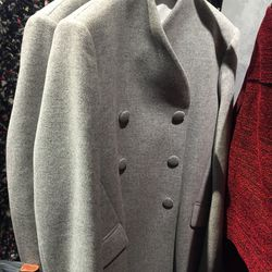 Wool/cashmere peacoat, $495 (was $1,650)