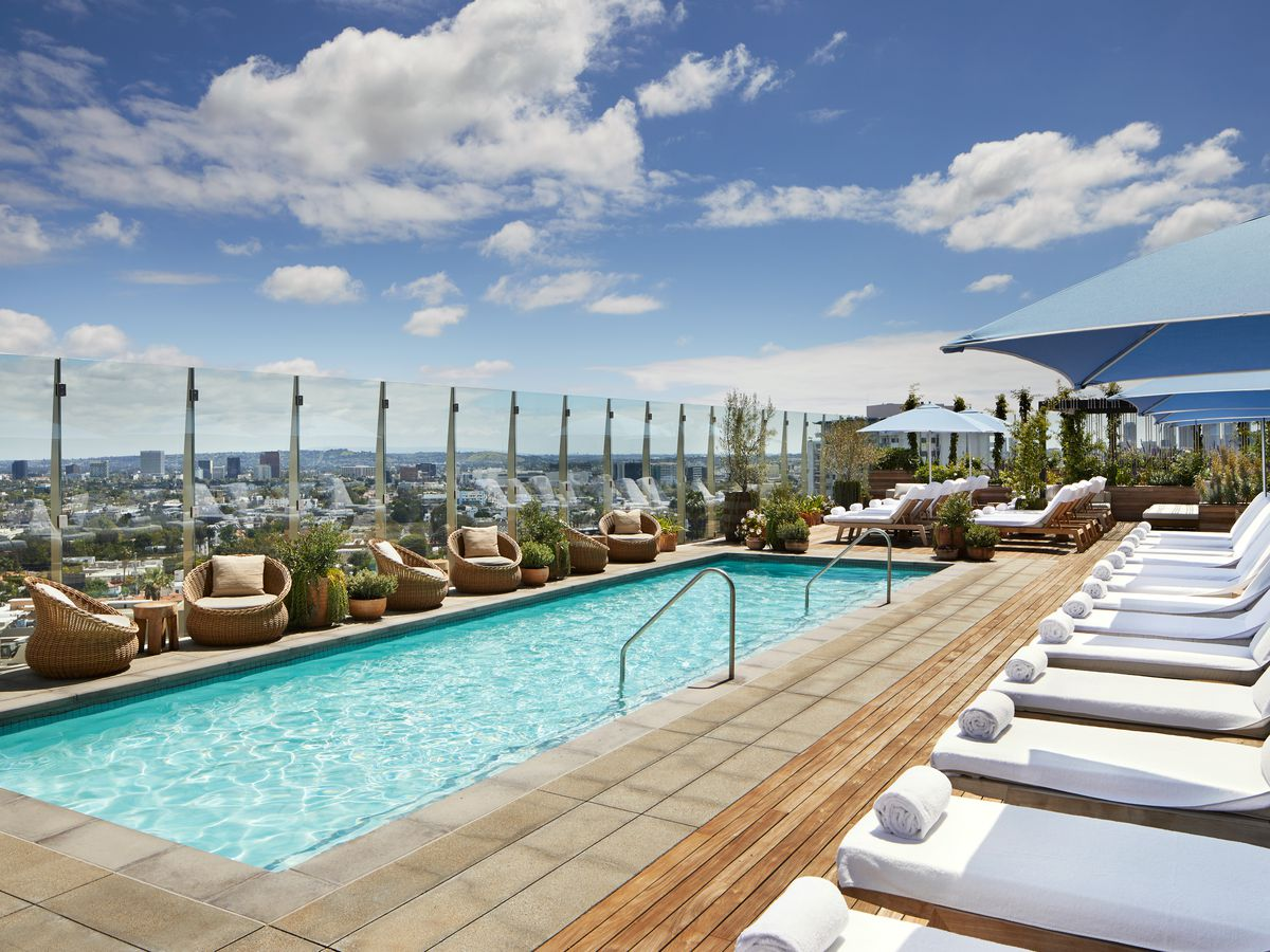Rooftop pool at 1 Hotel West Hollywood