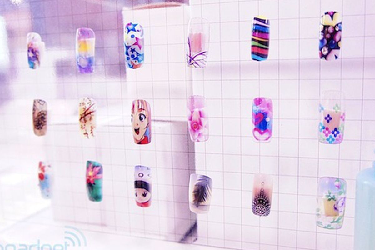 A Couple Of Weeks Ago We Heard About The Barbie Branded Nail Art Printer Now It Looks Like More Tech Companies Are Getting In At Home Beauty Game