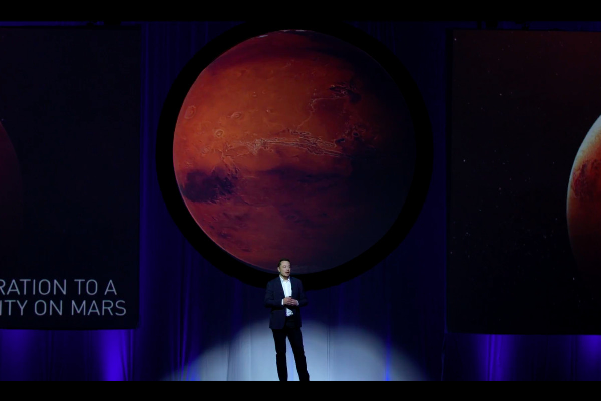 Elon Musk at SpaceX Mars Event