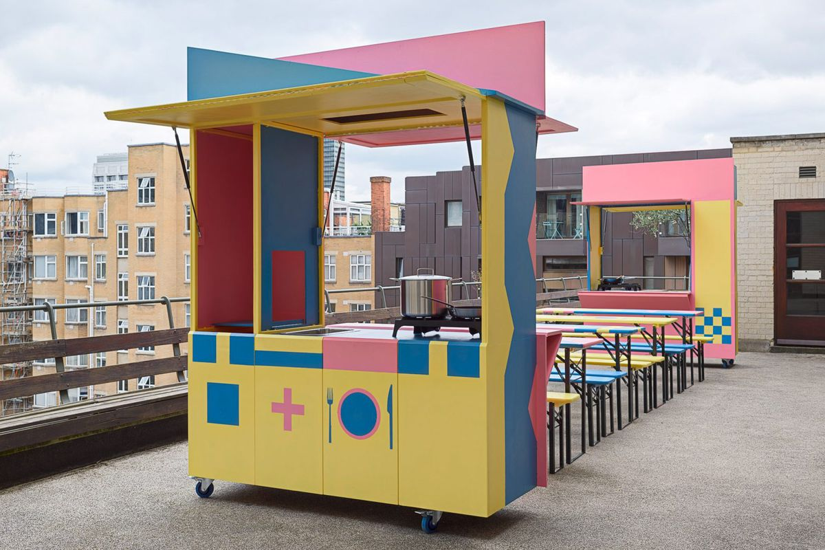 Colorful Mobile Kitchen Pops Up For Refugees In London