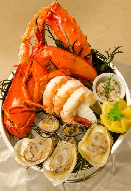 The grand seafood platter at Eiffel Tower Restaurant