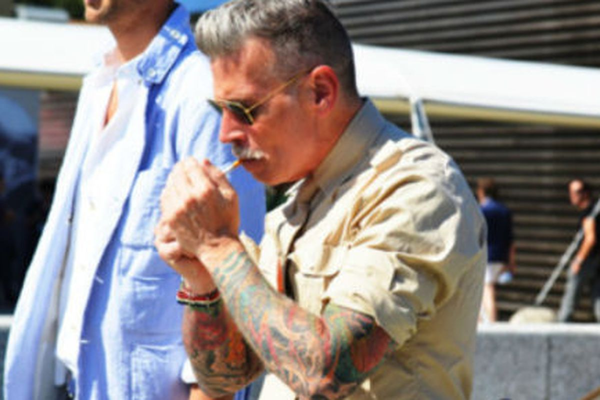"""Menswear style god and all around badass Nick Wooster, by <a href=""""http://jakandjil.com/"""">Tommy Ton</a> via <a href=""""http://howtotalktogirlsatparties.tumblr.com/post/6982122146/tommy-ton-titled-this-the-wooster"""">How to Talk to Girls at Parties</a>"""