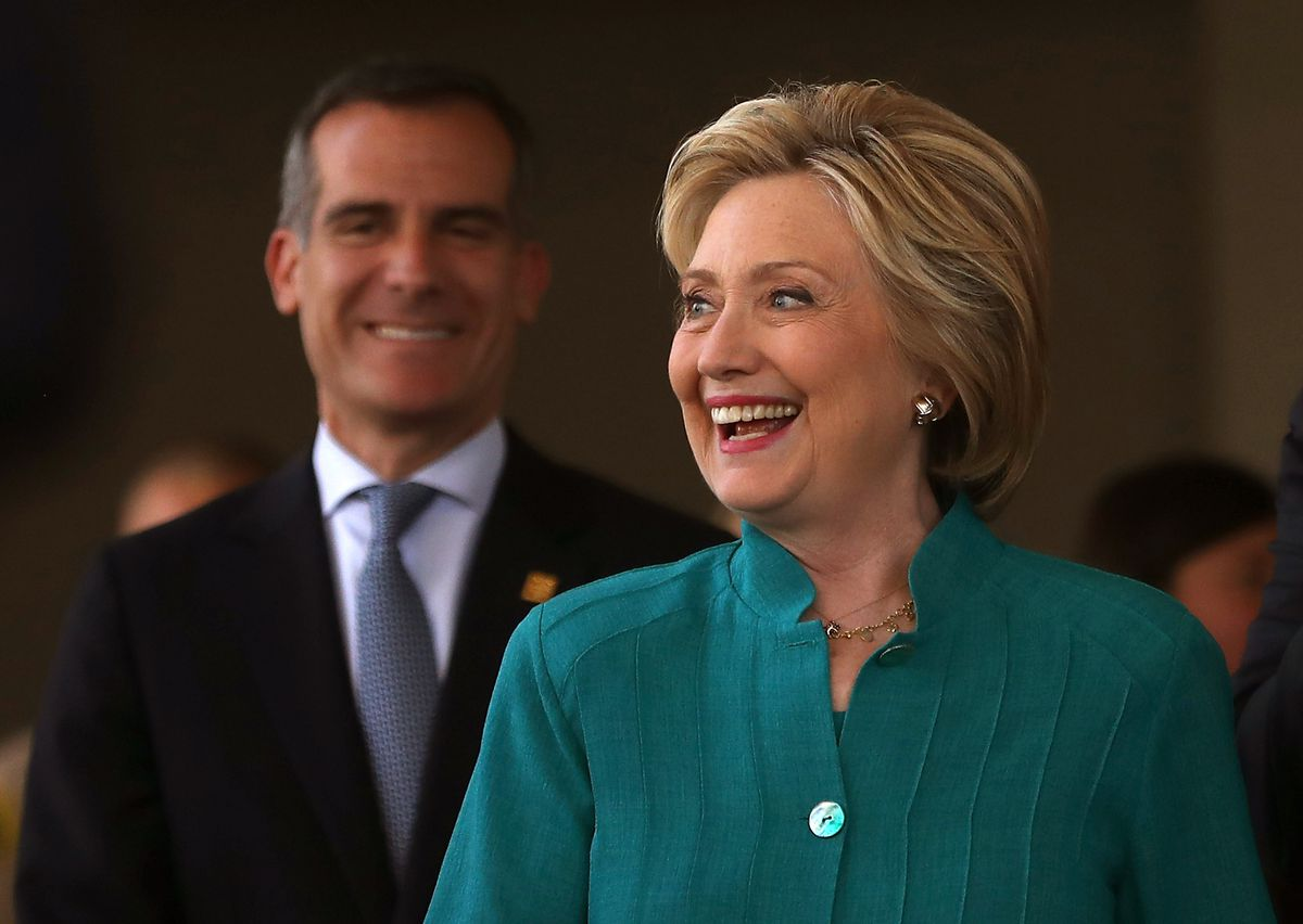 Hillary Clinton Campaigns In Southern California