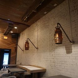 Light fixtures shaped like old fire hydrants