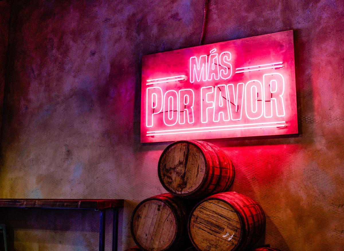 Neon at Más Por Favor Taqueria y Tequila