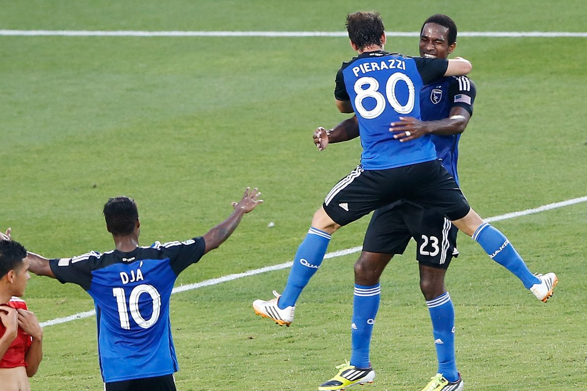 Jean Baptiste Pierazzi celebrates his first goal, and golazo, in MLS