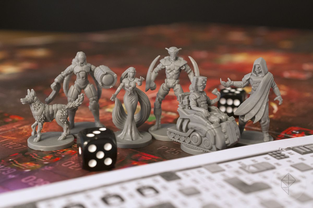 Gen Con 2018 — A selection of miniatures from Specter Ops: Broken Covenant.