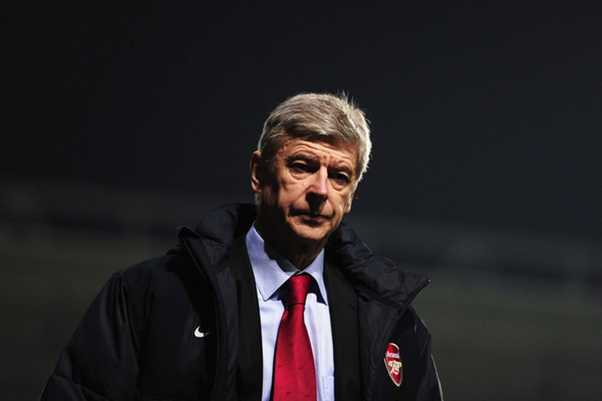 Here's hoping for another image of a down-trodden Wenger this weekend.