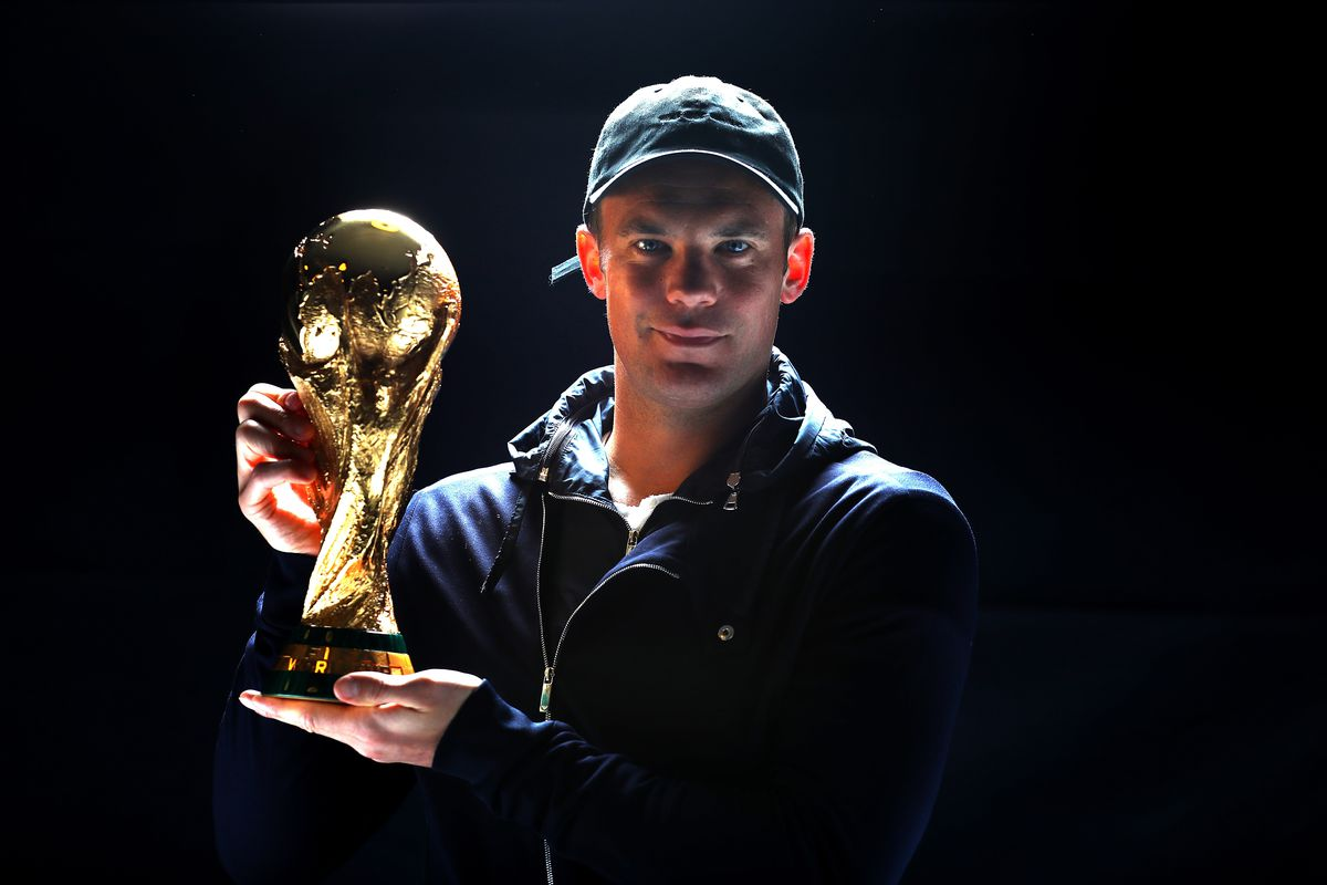 ZURICH, SWITZERLAND - JANUARY 09: Manuel Neuer of Germany and Bayern Munich poses with the FIFA World Cup Winners Trophy prior to The Best FIFA Football Awards at Kameha Zurich Hotel on January 9, 2017 in Zurich, Switzerland.
