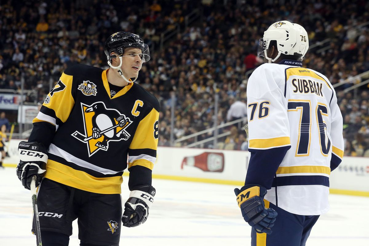 Late goals lift Penguins in Stanley Cup opener