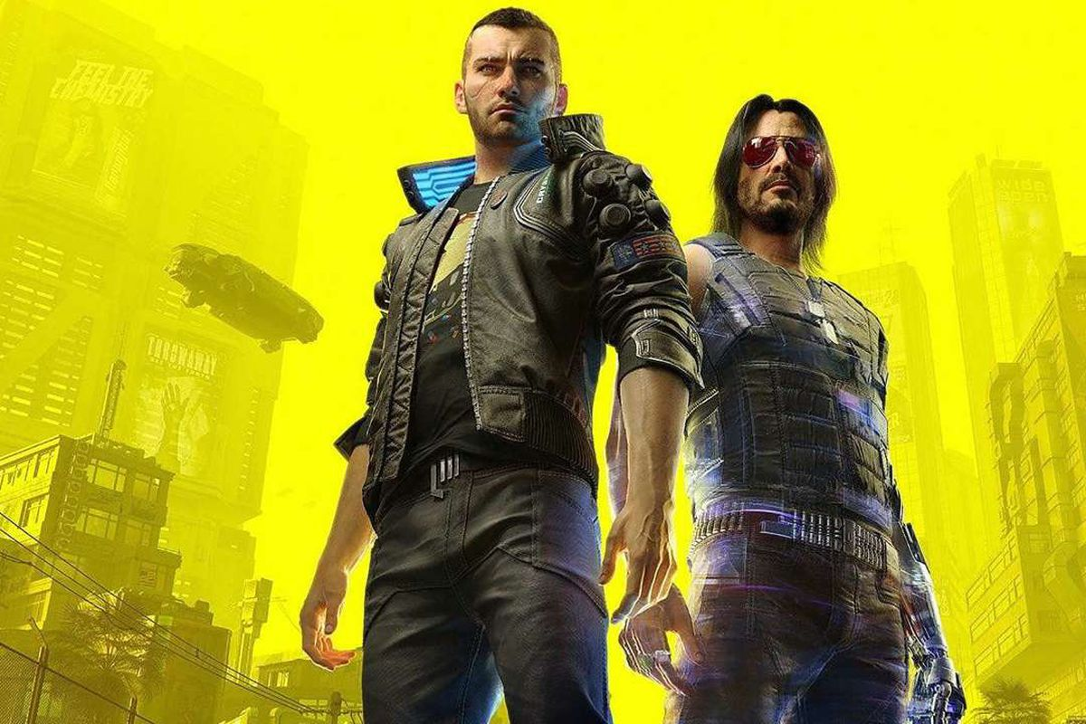Cyberpunk 2077, featuring V and Johnny Silverhand