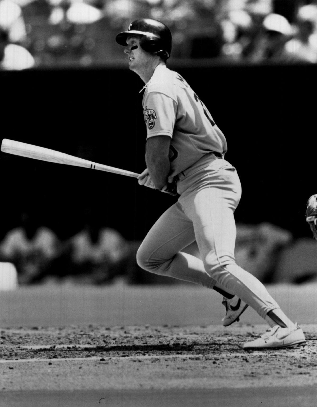 Mark McGwire of the Oakland Athletics...