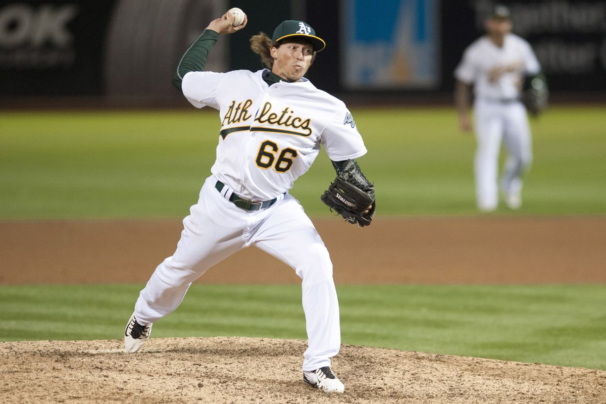 The A's might finally have a pitcher who looks younger than Sonny Gray.