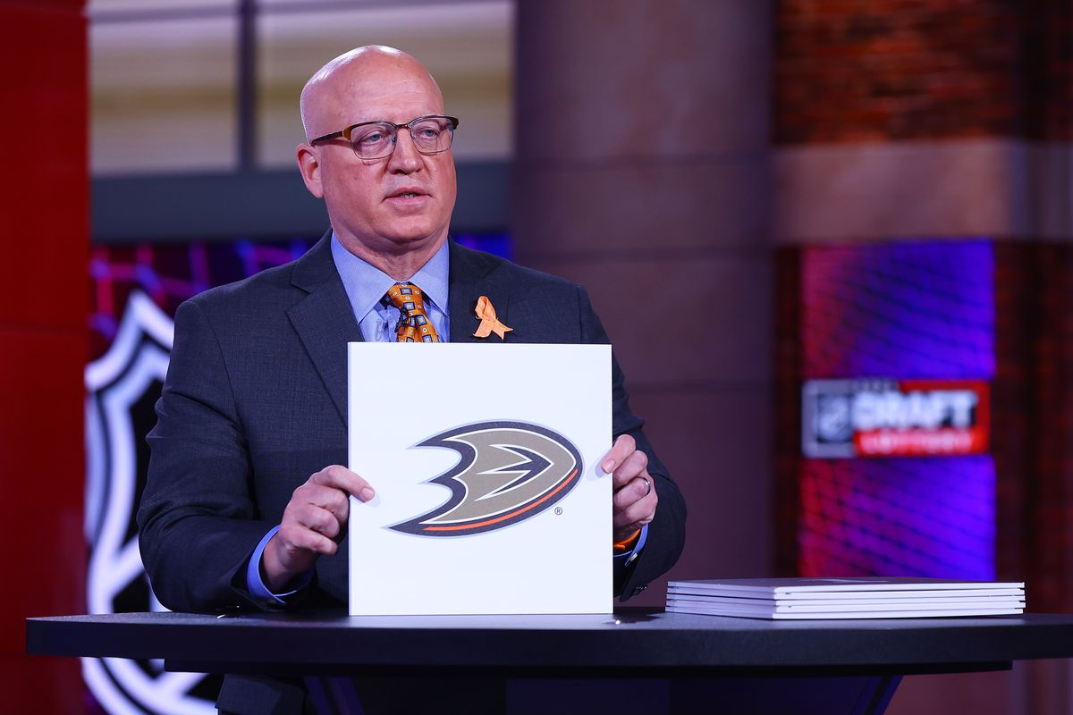 National Hockey League Deputy Commissioner Bill Daly announces the Anaheim Ducks #3 overall draft position during the 2021 NHL Draft Lottery on June 02, 2021 at the NHL Network's studio in Secaucus, New Jersey.