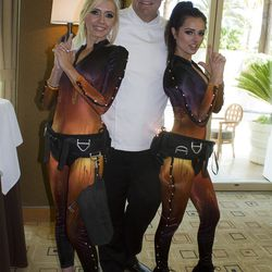 Charlie Palmer and his wine angels.