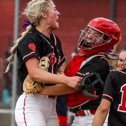 Springville faced off against Spanish Fork during the 5A softball quarterfinals at Spanish Fork Sports Park in Spanish Fork on Tuesday, May 25, 2021.