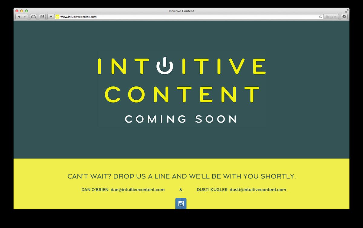 Screengrab: Intuitive Content website
