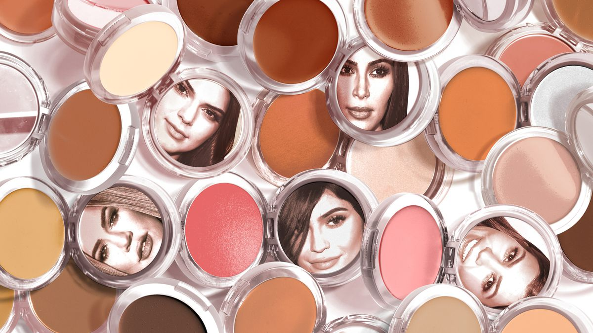 d5ff0c0e648 The Kardashian-Jenner sisters' faces are reflected in makeup compact mirrors