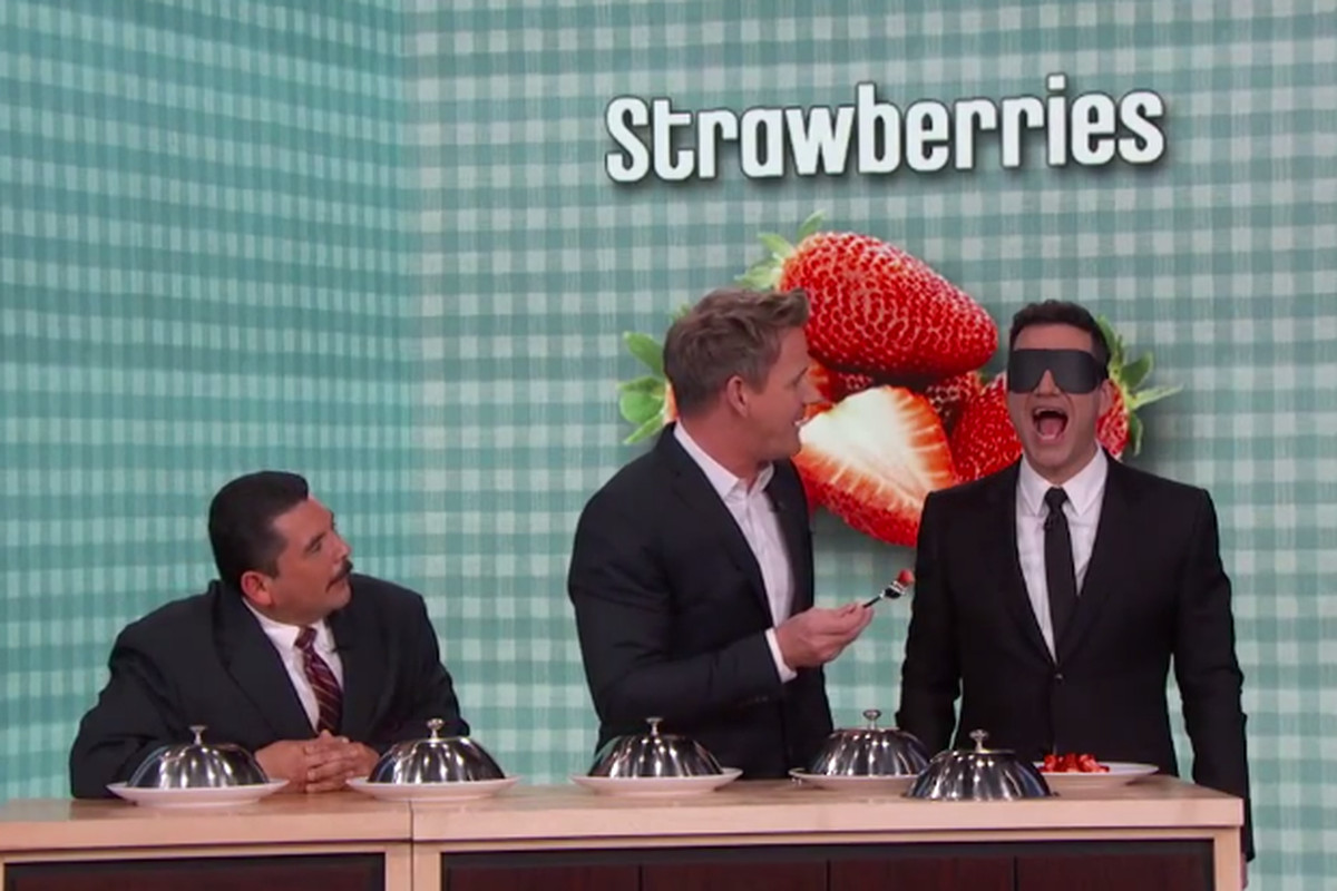 Watch Gordon Ramsay Give Jimmy Kimmel a Blind Taste Test - Eater